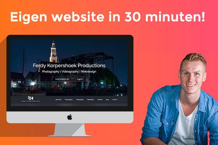 Leer in deze gratis cursus WordPress hoe je binnen 30 minuten een website maakt