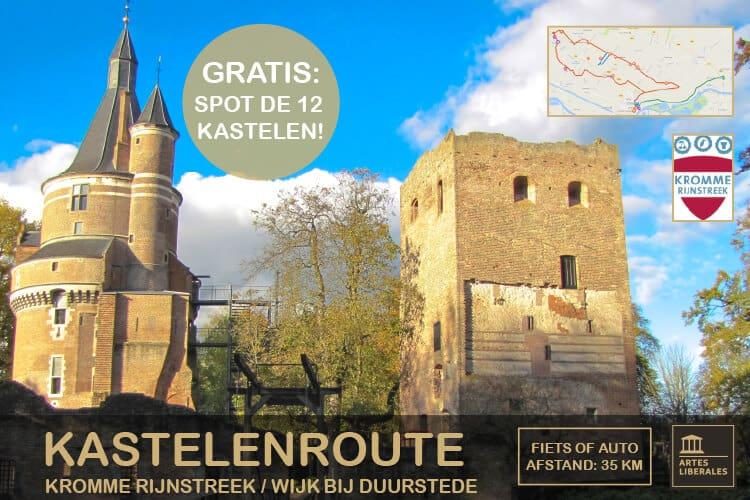 Ontdek de kastelenroute in de Kromme Rijnstreek