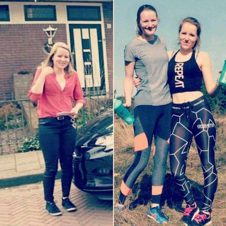 Het resultaat van de inspanningen (links: voor, rechts: na)