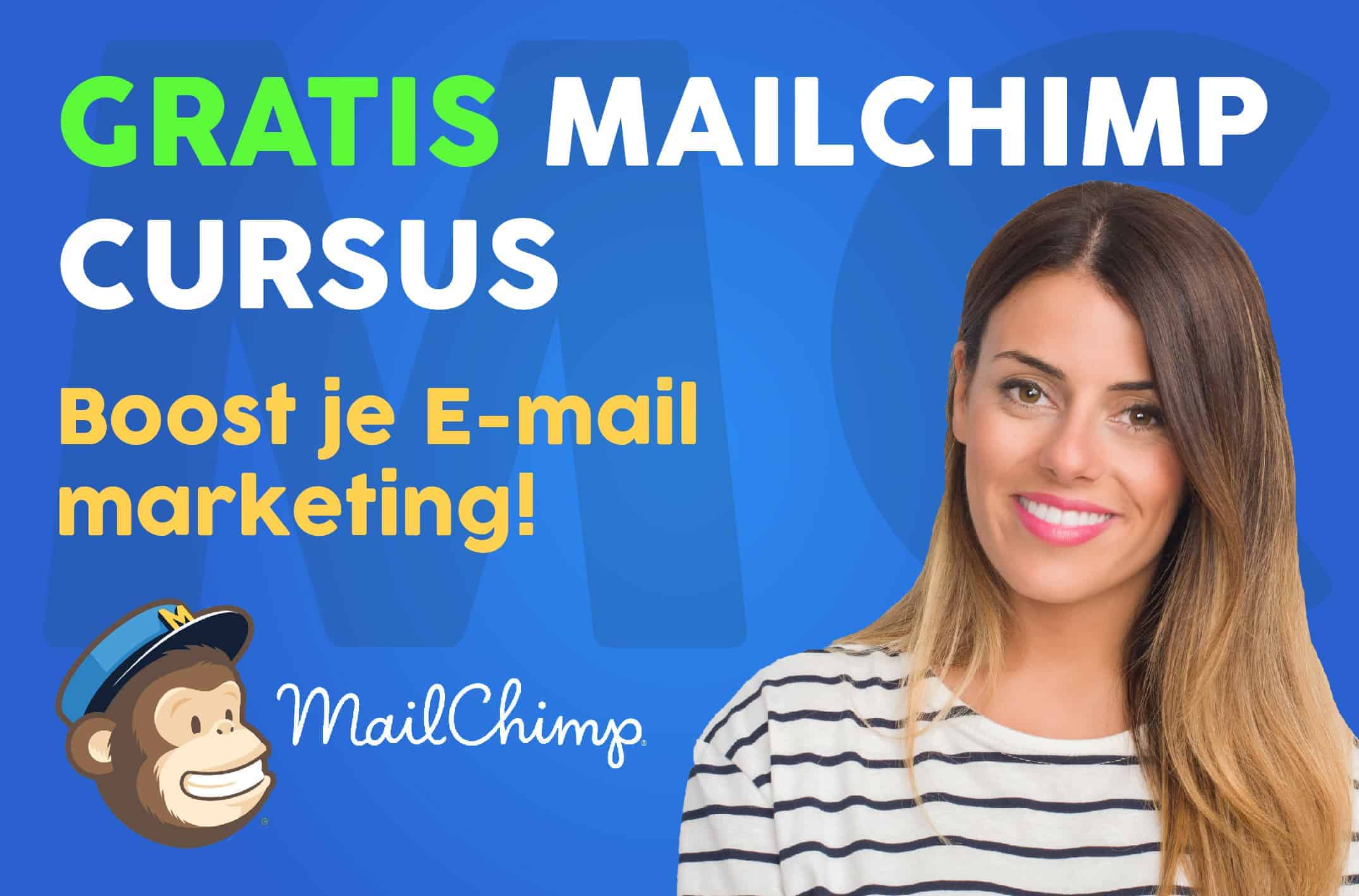 Leer in deze gratis cursus e-mailmarketing meer over MailChimp