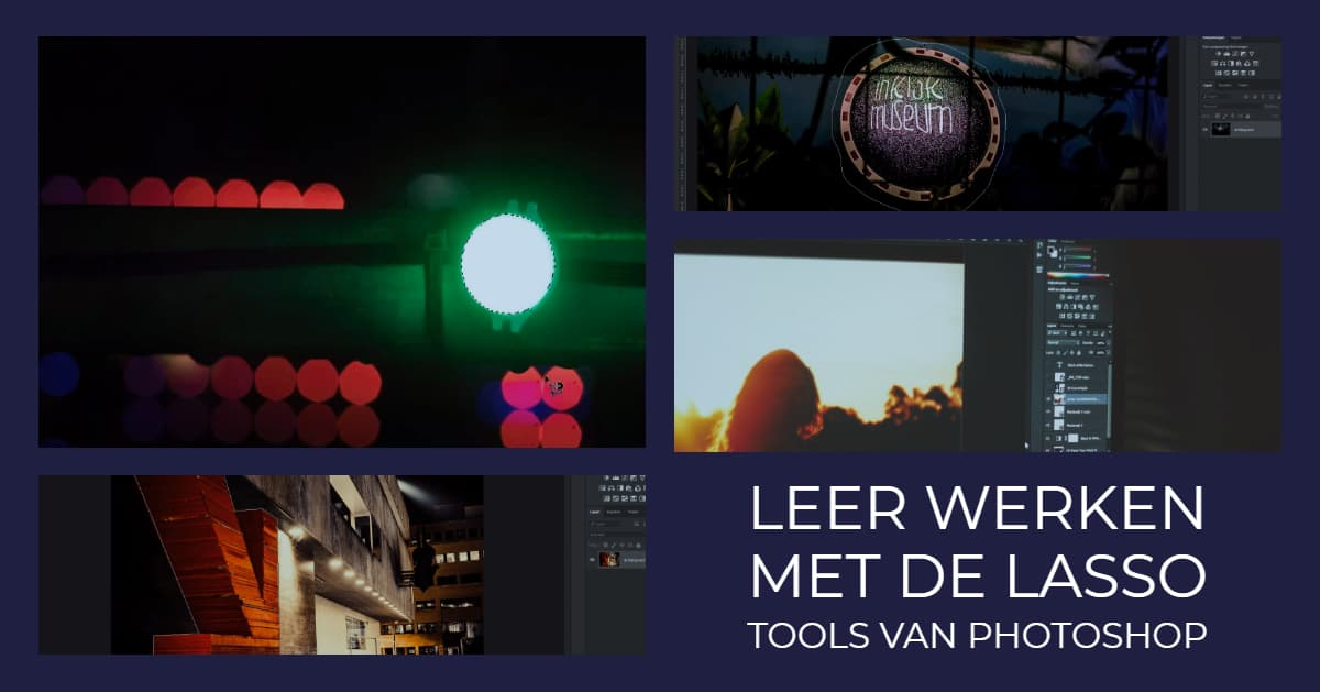 Leer werken met de verschillende lasso tools in Photoshop